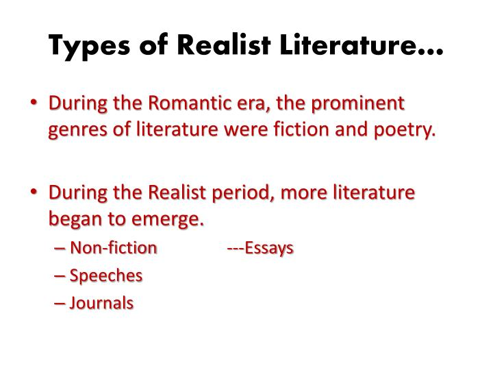 realism in romantic poetry essay But an american form of literary realism is that however the  in the present study , a question is what type of literature the romance was,  a central question in  the present paper is the difference in the connection between romance and novel .