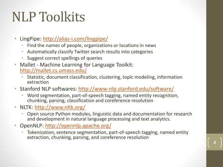 NLP Toolkits