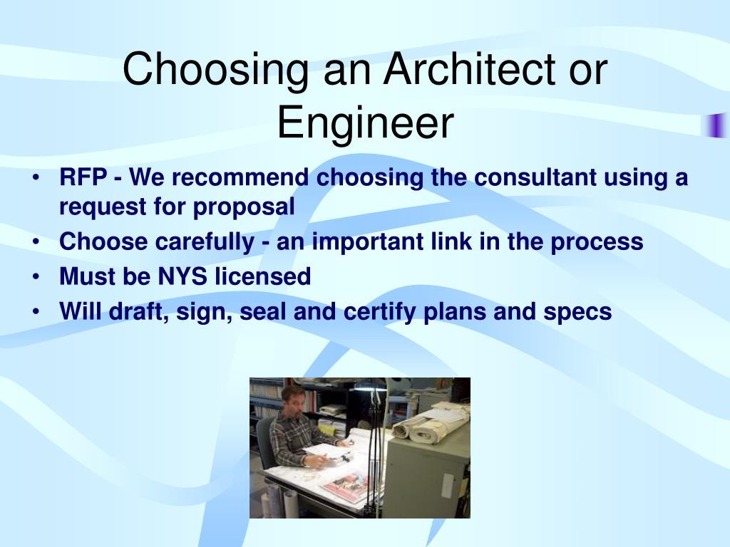 Choosing an Architect or Engineer