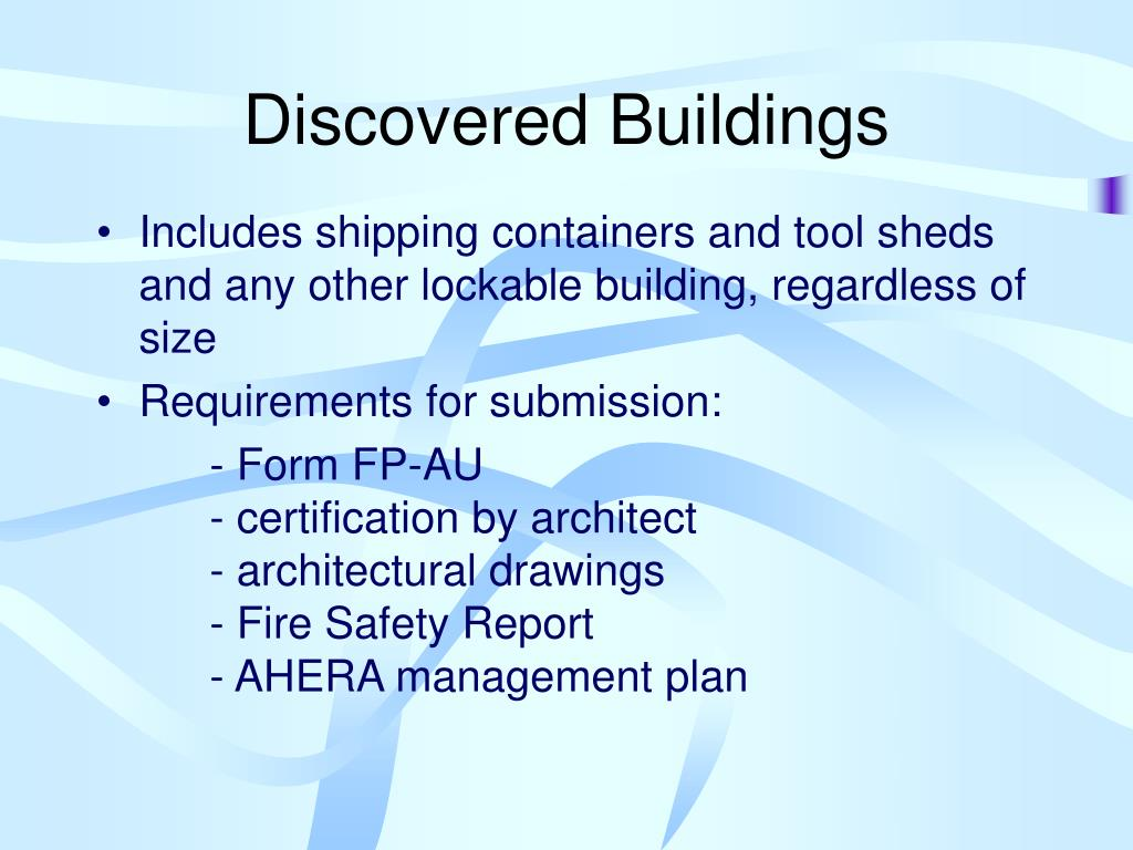 Discovered Buildings