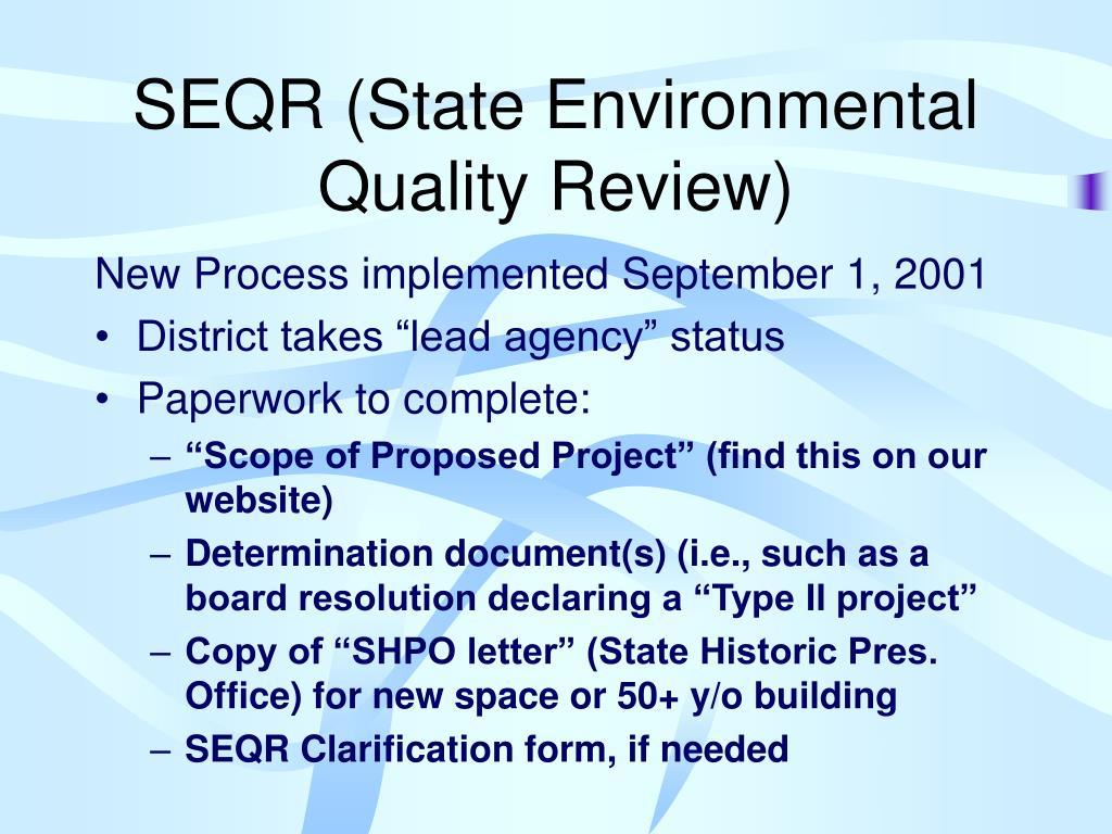 SEQR (State Environmental Quality Review)