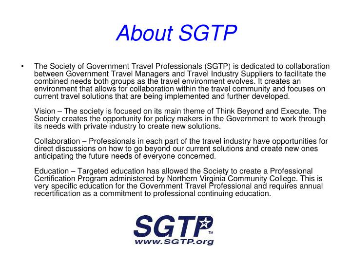 About SGTP