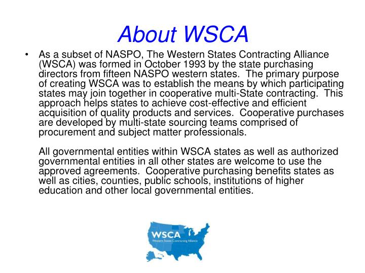 About WSCA