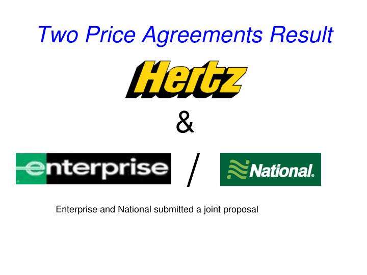 Two Price Agreements Result