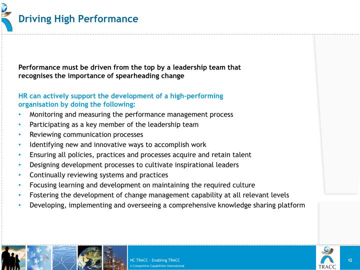 Driving High Performance