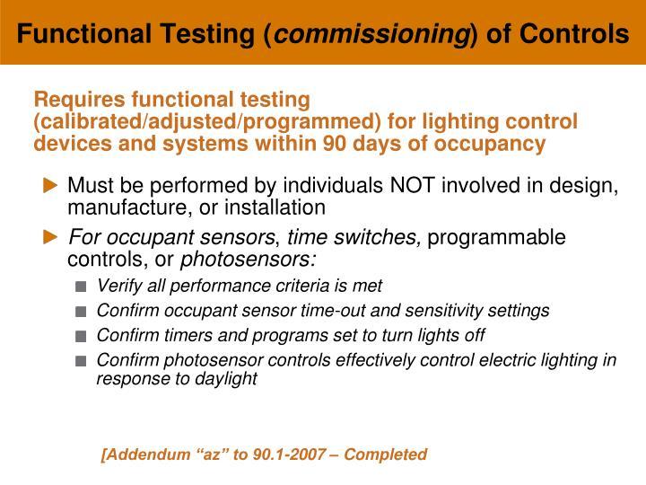 Functional Testing (