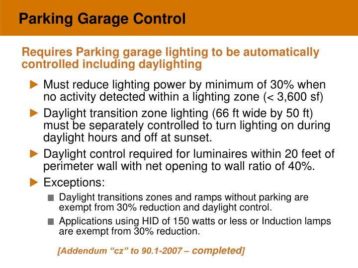 Parking Garage Control