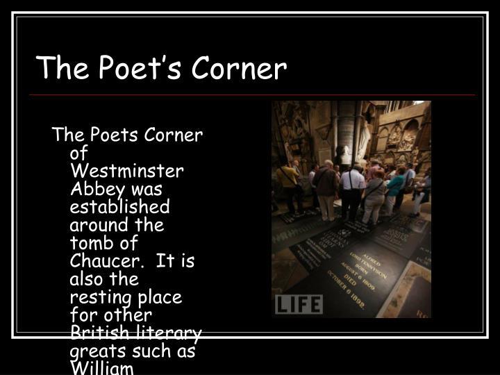 The Poet's Corner