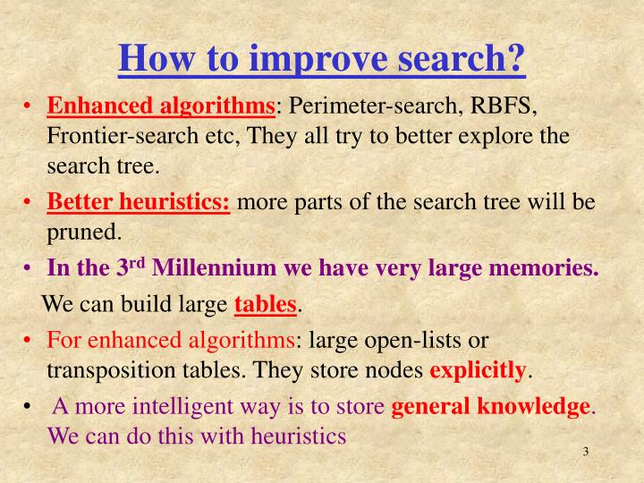 How to improve search?