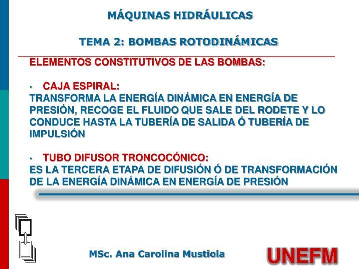 MÁQUINAS HIDRÁULICAS