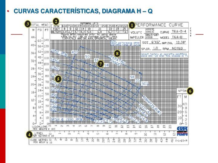 Curvas características, diagrama H – Q