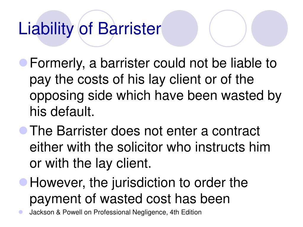 Liability of Barrister