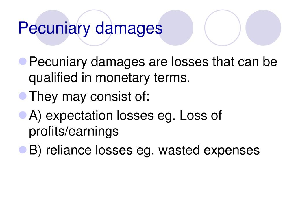 Pecuniary damages