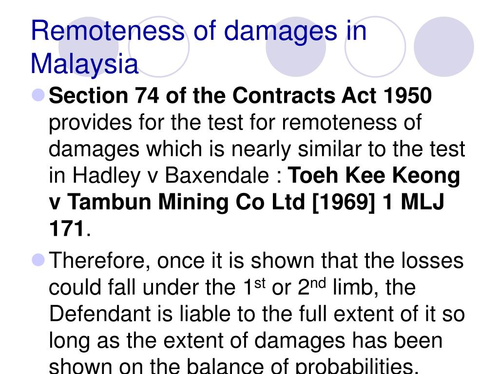 Remoteness of damages in Malaysia