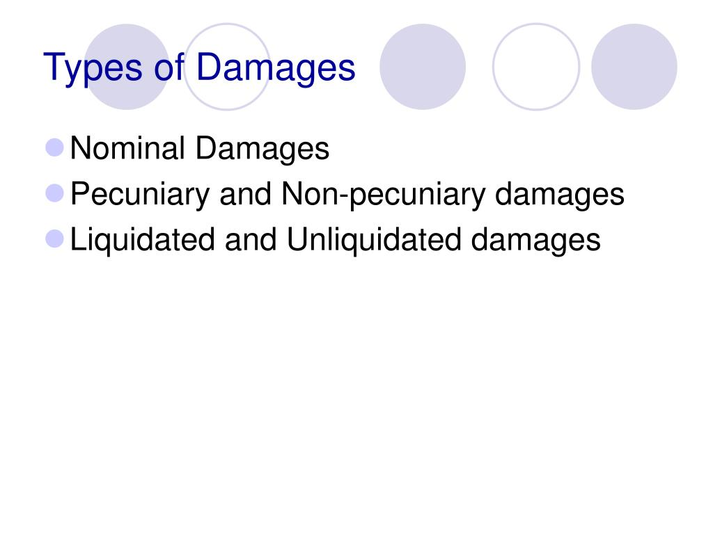 Types of Damages