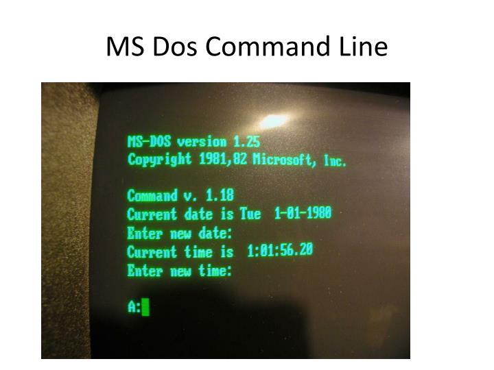 MS Dos Command Line