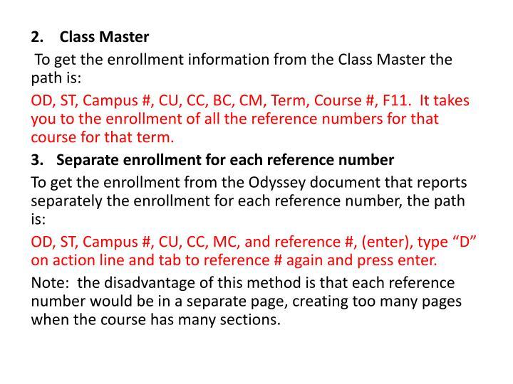 Class Master
