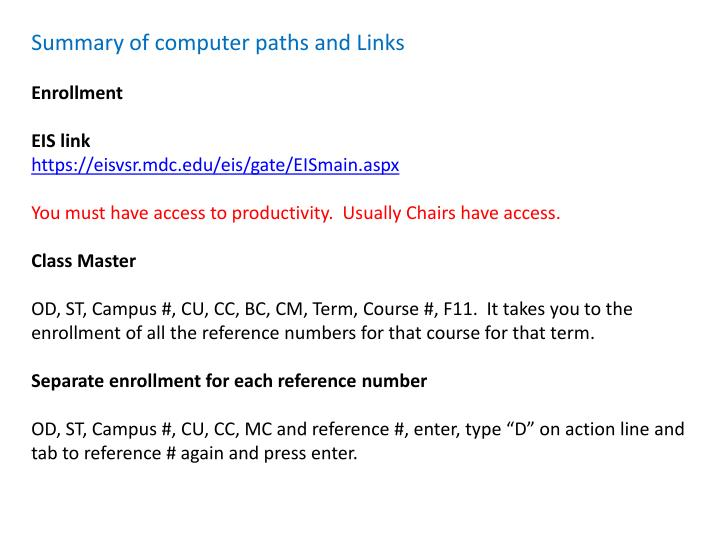 Summary of computer paths and