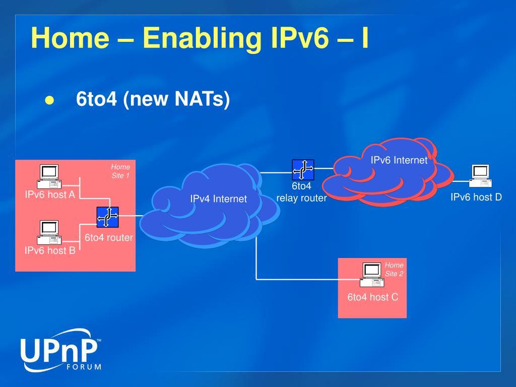 Home – Enabling IPv6 – I
