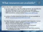 what resources are available