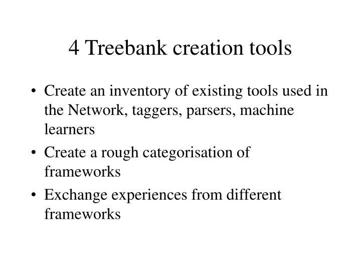 4 Treebank creation tools
