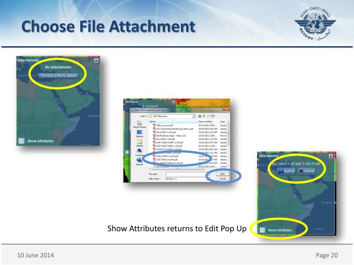 Choose File Attachment