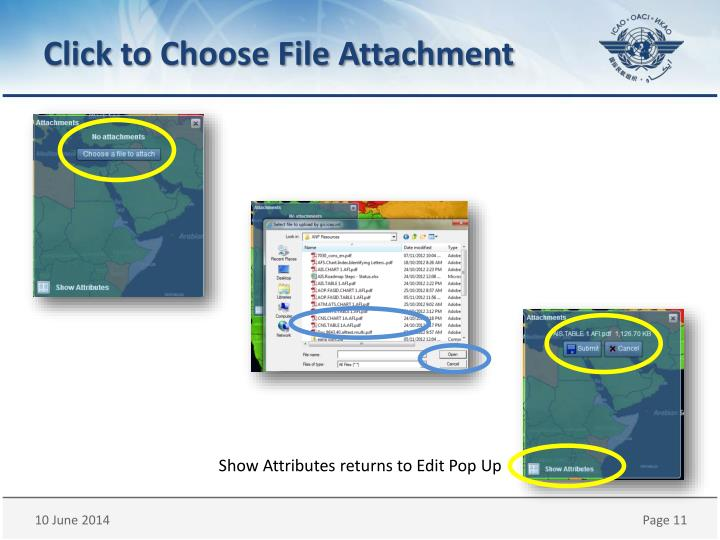 Click to Choose File Attachment