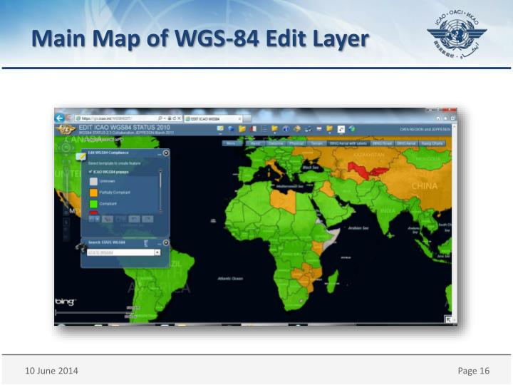 Main Map of WGS-84 Edit Layer