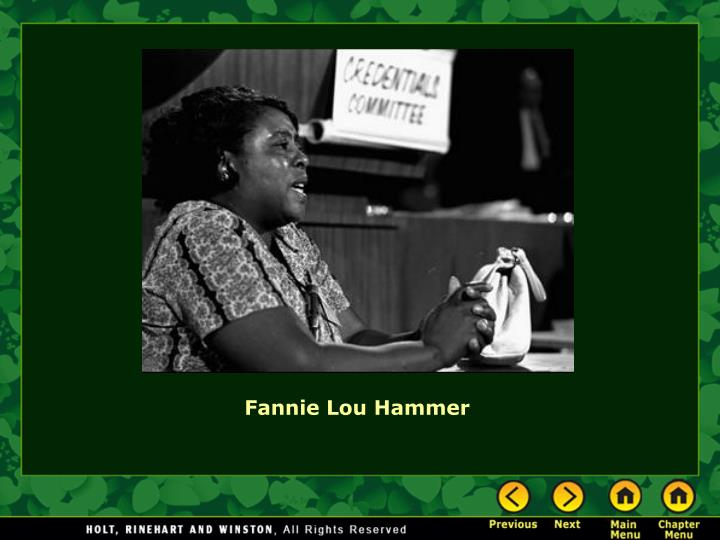 Fannie Lou Hammer
