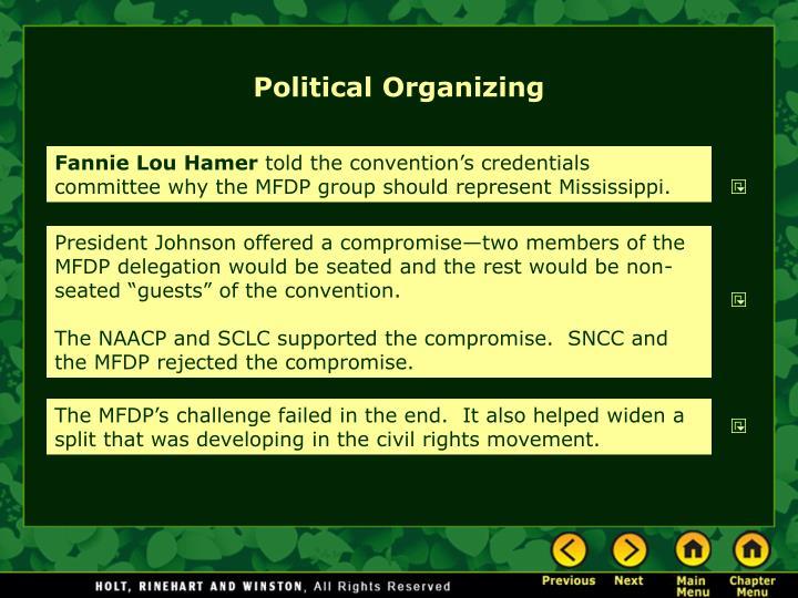 Political Organizing