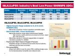 isla11xp50 industry s best low power 500msps adcs