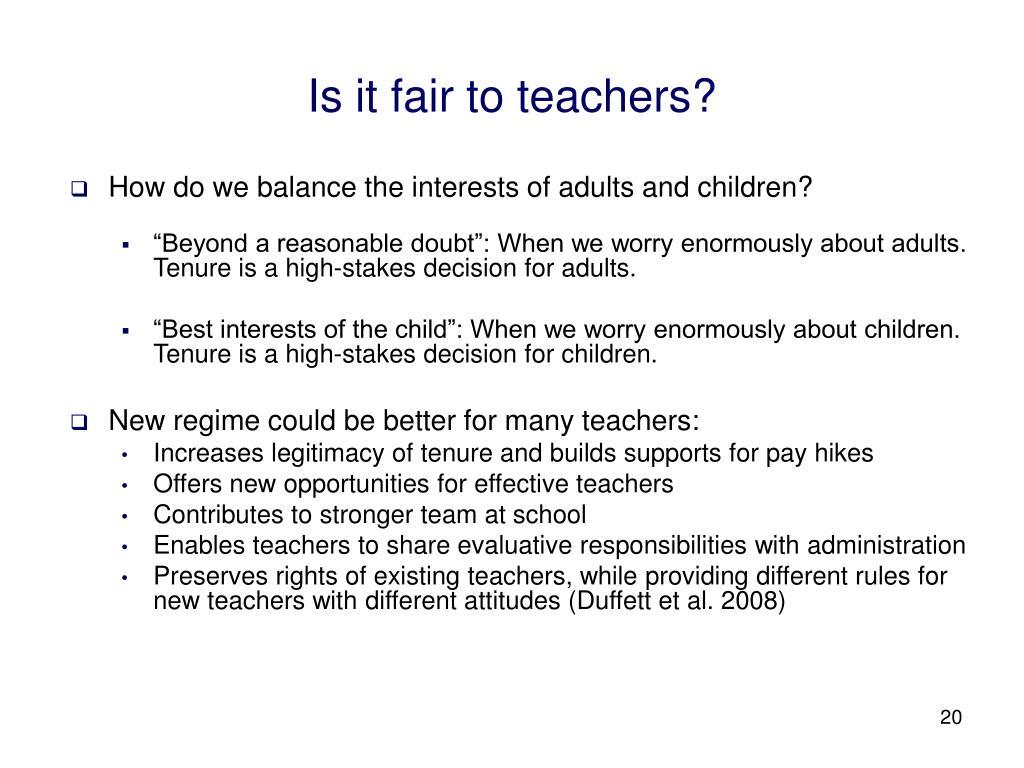 Is it fair to teachers?
