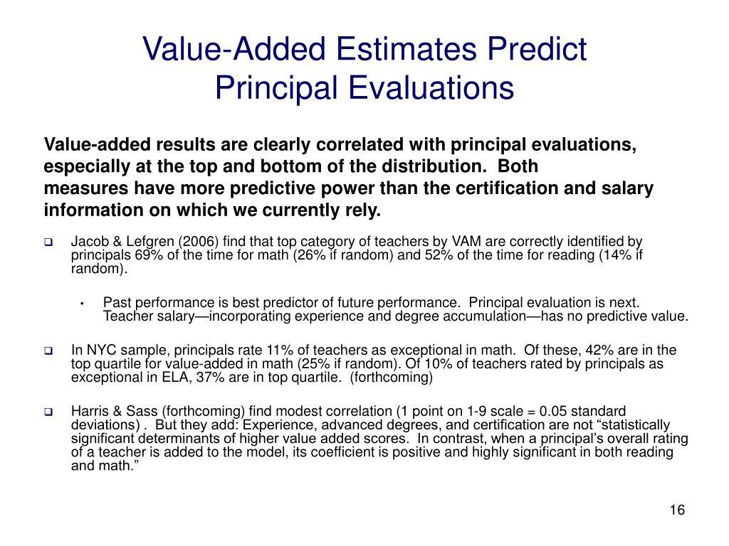 Value-Added Estimates Predict