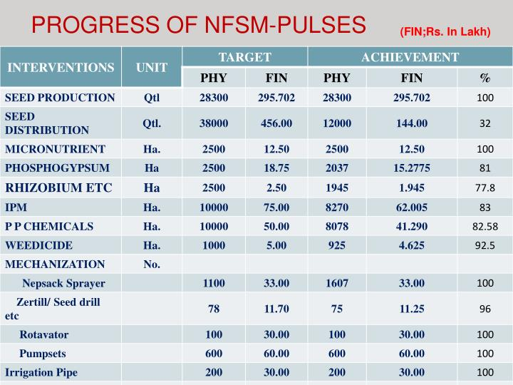 PROGRESS OF NFSM-PULSES