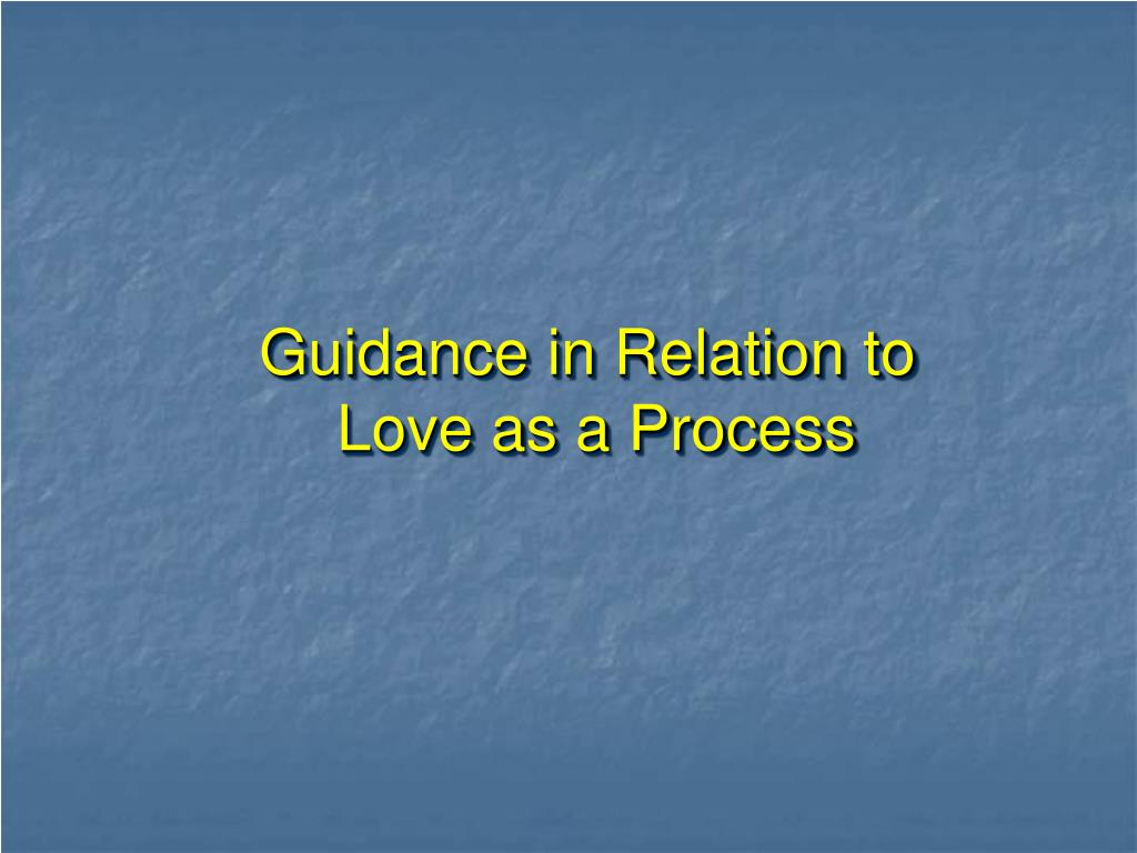 Guidance in Relation to