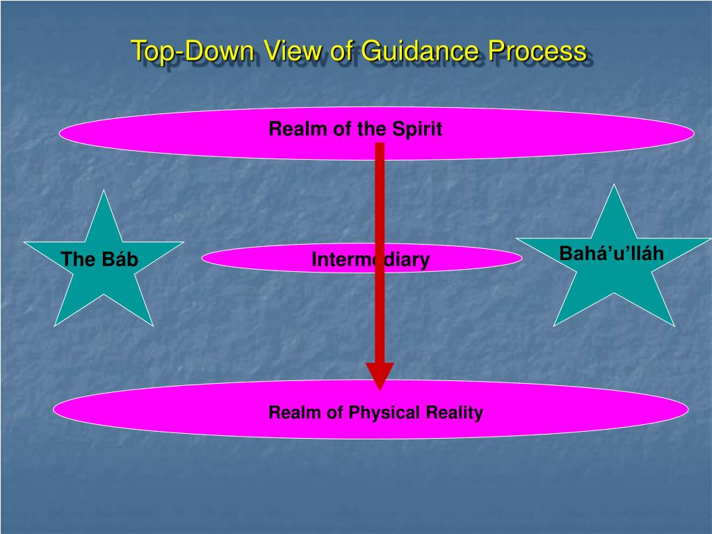 Top-Down View of Guidance Process