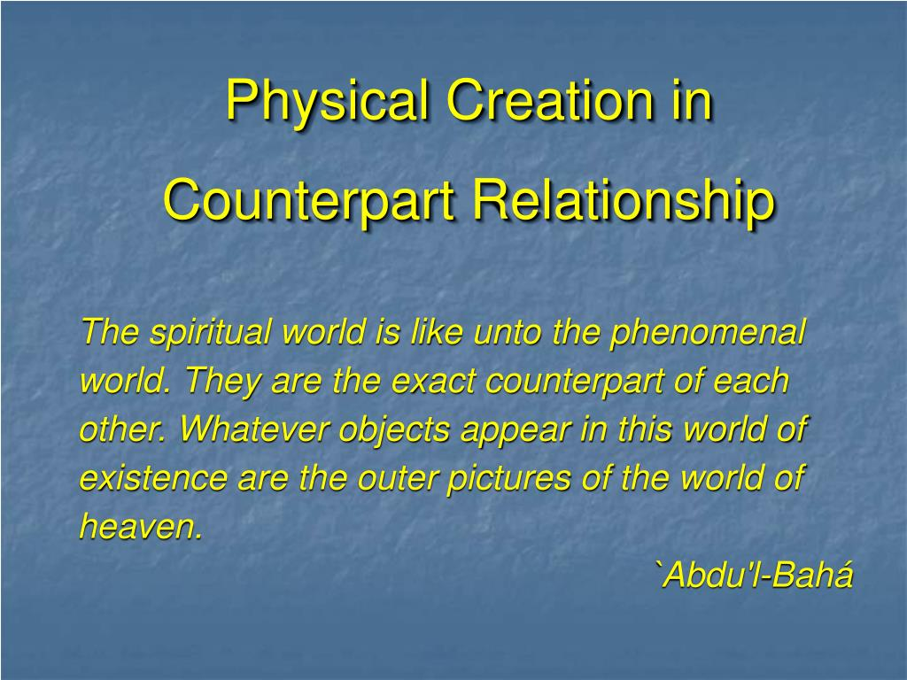 Physical Creation in