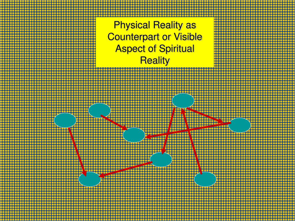Physical Reality as Counterpart or Visible Aspect of Spiritual Reality