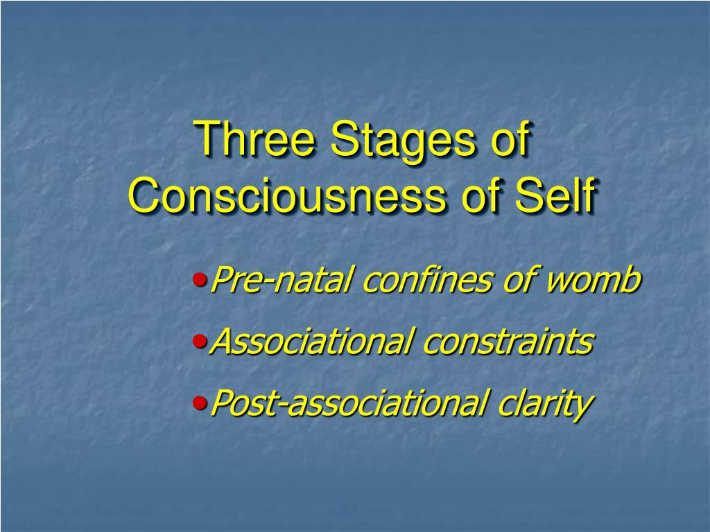Three Stages of Consciousness of Self