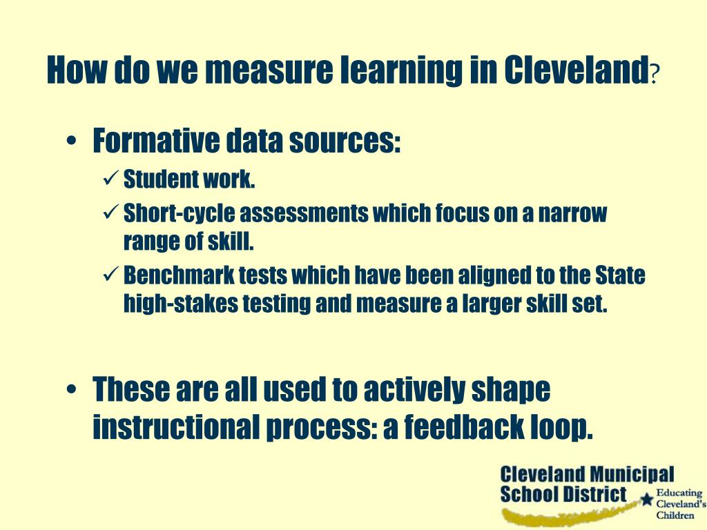 How do we measure learning in Cleveland