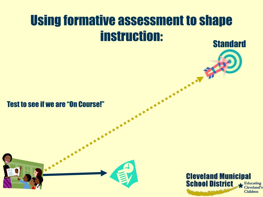 Using formative assessment to shape instruction: