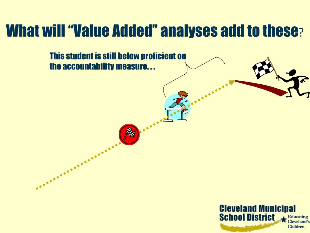 """What will """"Value Added"""" analyses add to these"""