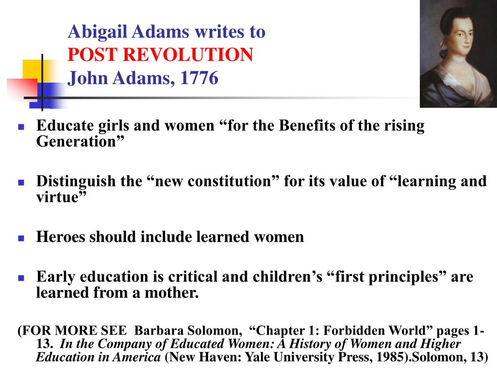 Abigail Adams writes to