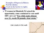 examples of regress in history post revolution crack in the barrier to rights