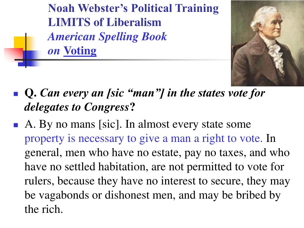 Noah Webster's Political Training