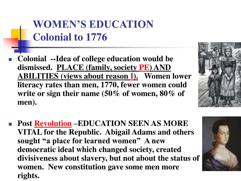 WOMEN'S EDUCATION