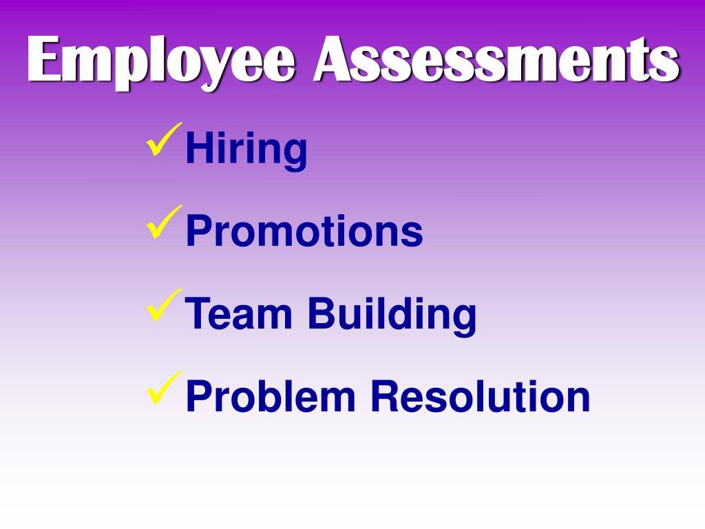 Employee Assessments