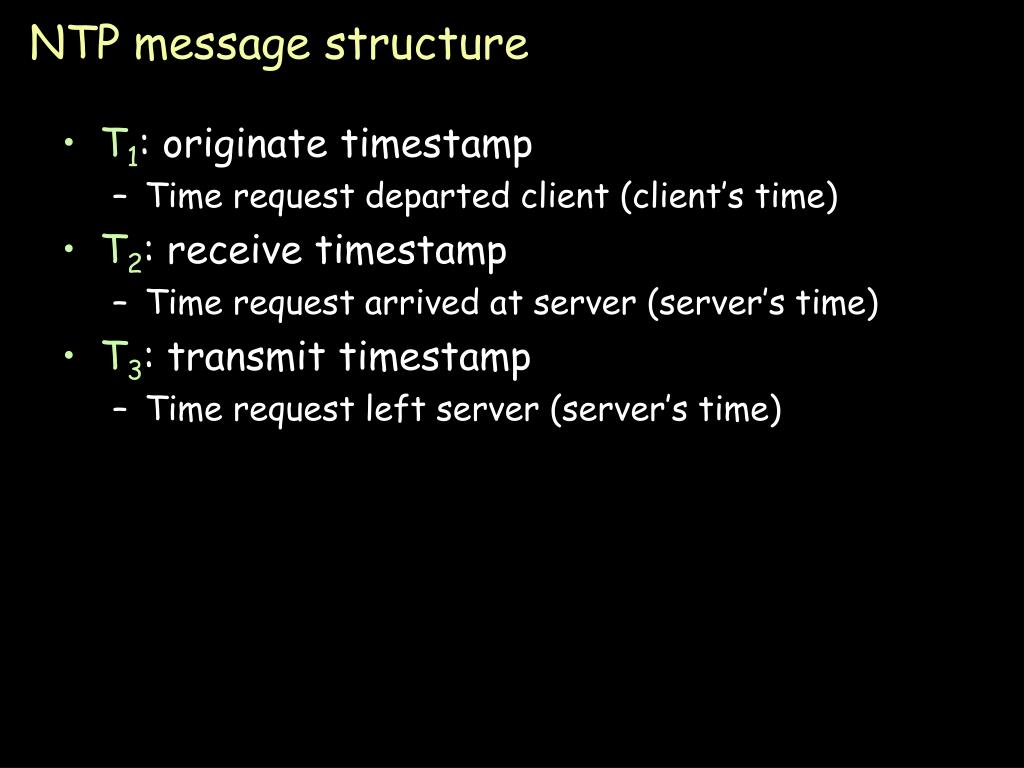 NTP message structure