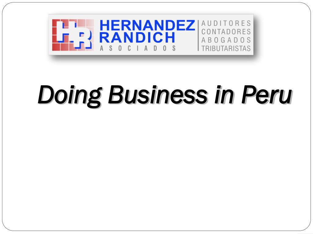 Doing Business in Peru