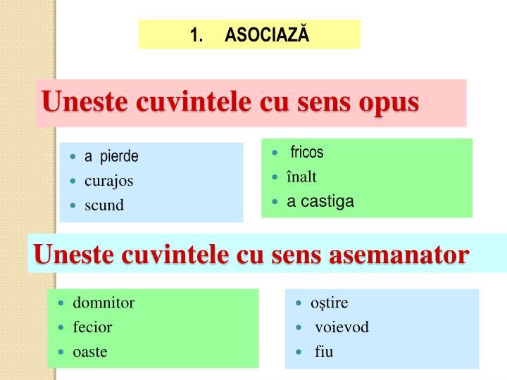 1.     ASOCIAZĂ